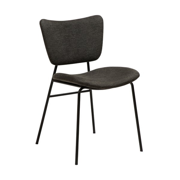 Černá jídelní židle s kovovými nohami DAN-FORM Thrill