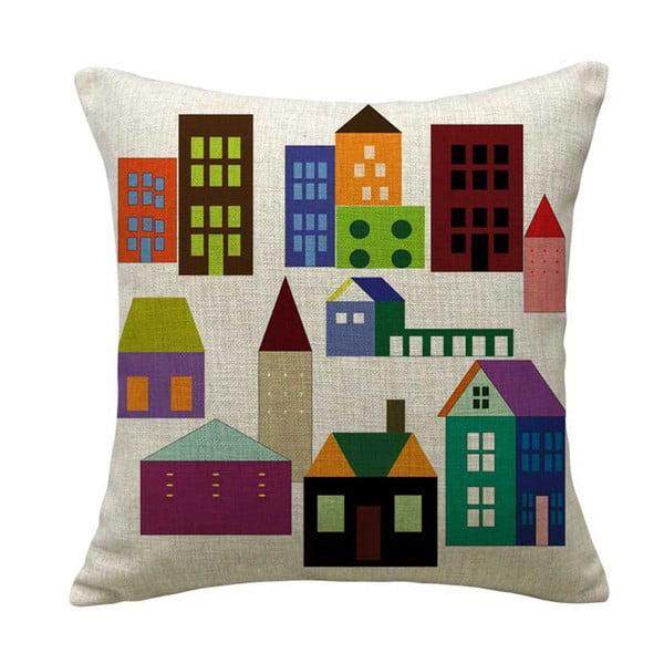 Polštář Colorful Houses, 45x45 cm