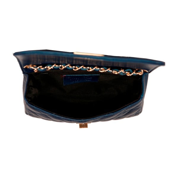 Tmavě modrá kabelka z pravé kůže Andrea Cardone Elena