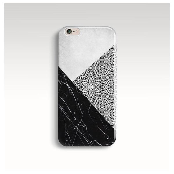 Obal na telefon Marble Mandala Black pro iPhone 6+/6S+