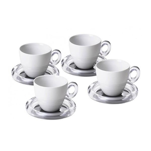 Sada 4ks šálků na čaj, šedá