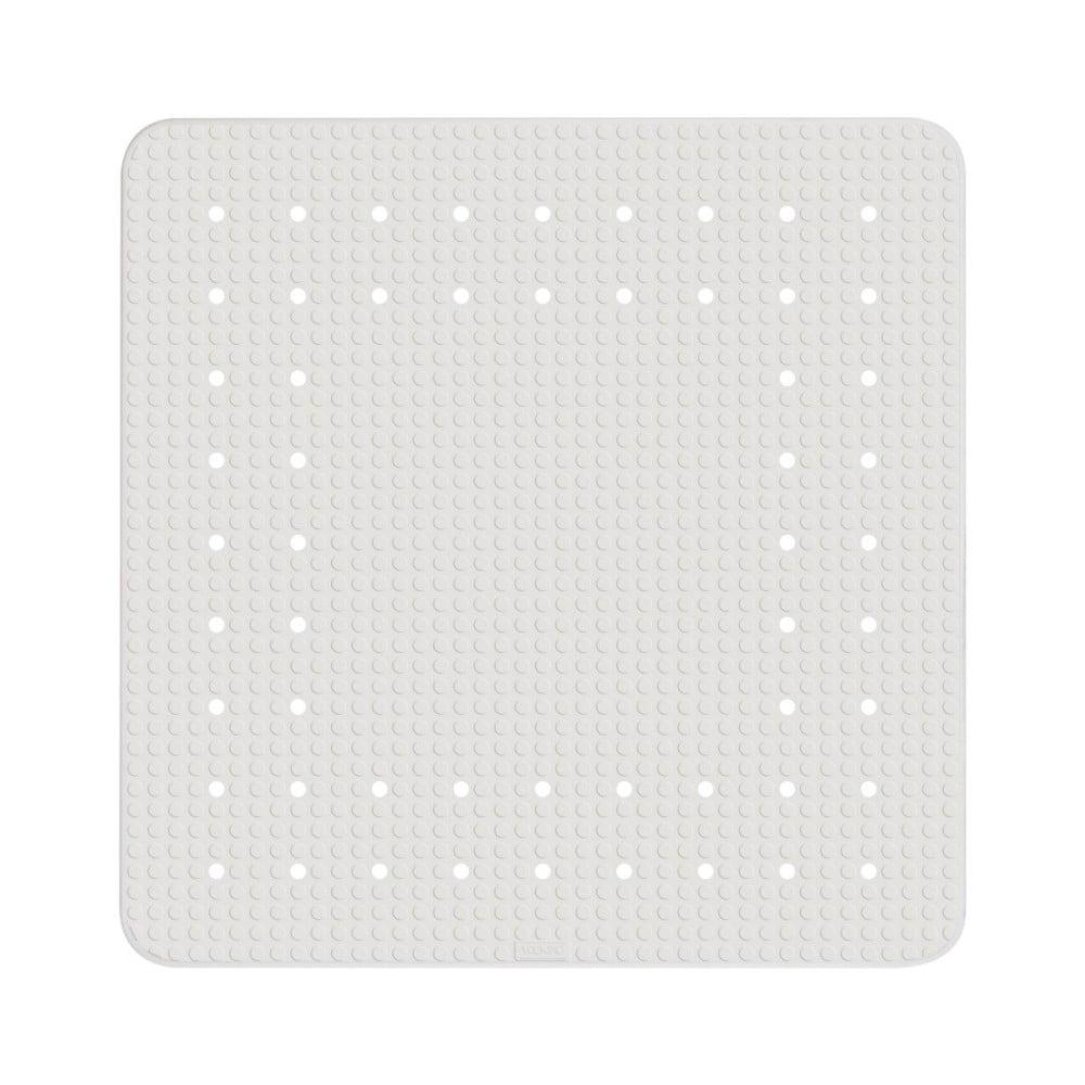 Bílá protiskluzová koupelnová podložka Wenko Mirasol, 54 x 54 cm