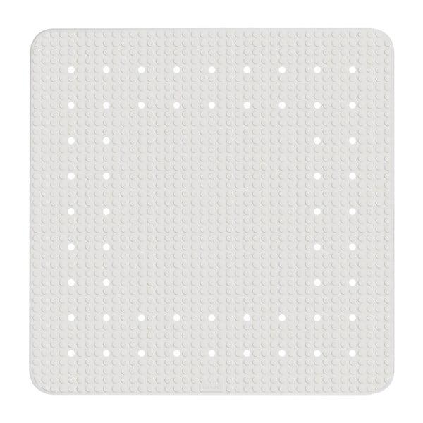 Biela protišmyková kúpeľňová podložka Wenko Mirasol, 54×54 cm