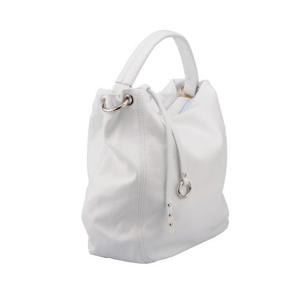Bílá kožená kabelka Florence Agena