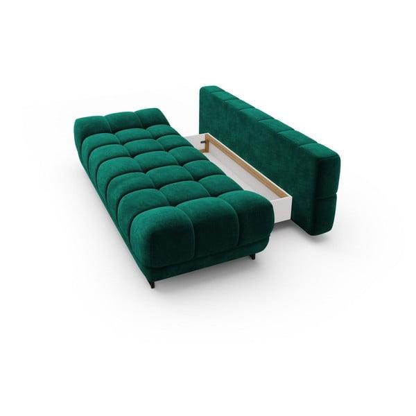 Canapea extensibilă cu înveliș de catifea cu 3 locuri Windsor & Co Sofas Cirrus, verde