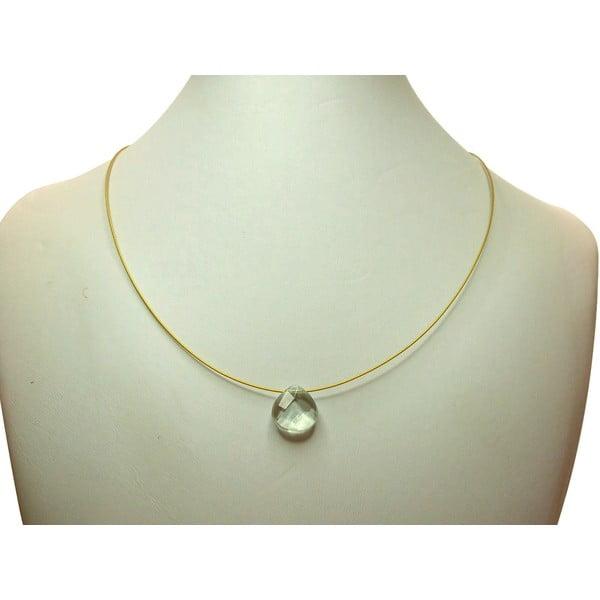 Zlatý náhrdelník Aquamarine Quartz (akvamarín)