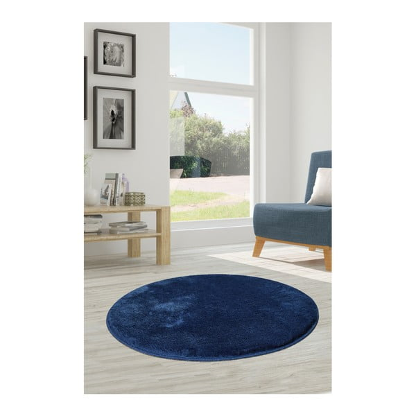 Ciemnoniebieski dywan Milano, ⌀ 90 cm