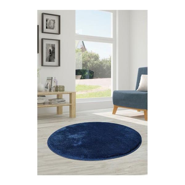 Tmavě modrý koberec Milano, ⌀90cm