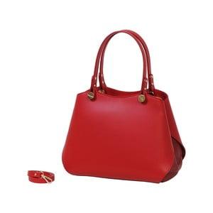 Červená kabelka z pravé kůže Andrea Cardone Sante