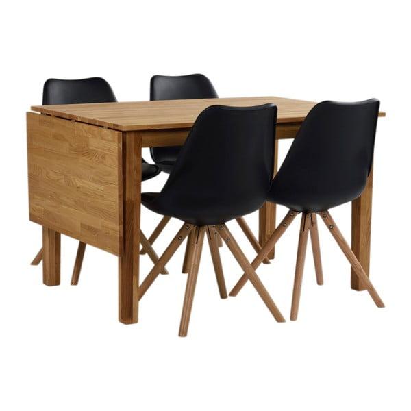Jídelní stůl z masivního dubového dřeva Folke Finnus, 120x80cm