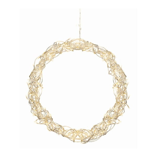 Svítící dekorace Curly Wreath, 45 cm