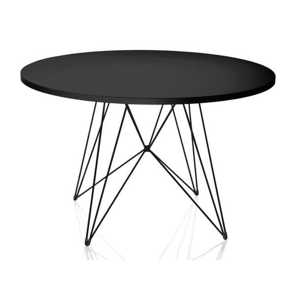 Bella fekete étkezőasztal, ø 120 cm - Magis