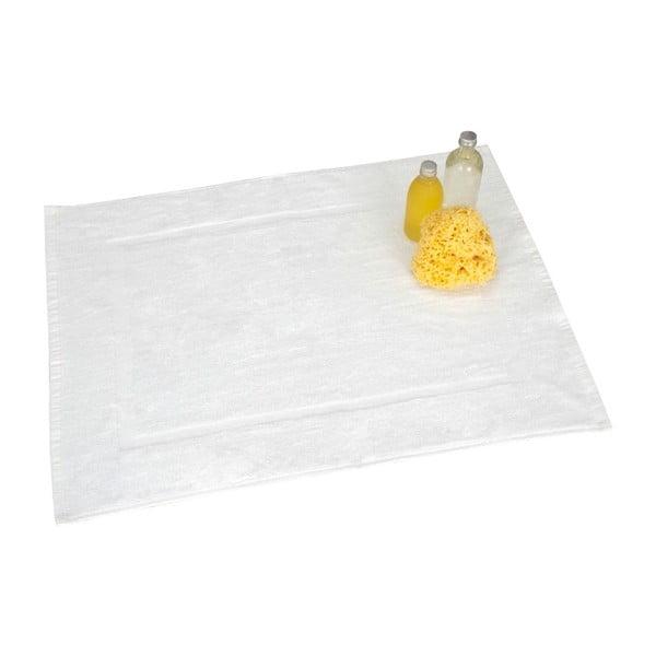 Bílá bavlněná koupelnová předložka Wenko, 50x70cm