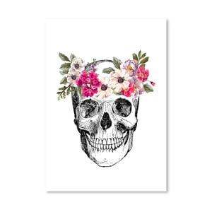 Poster Americanflat Skull, 30 x 42 cm