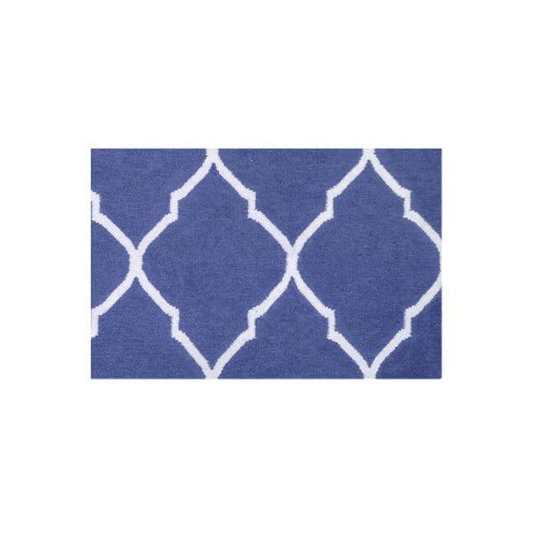 Vlněný koberec Caroline Dark Blue, 155x240 cm