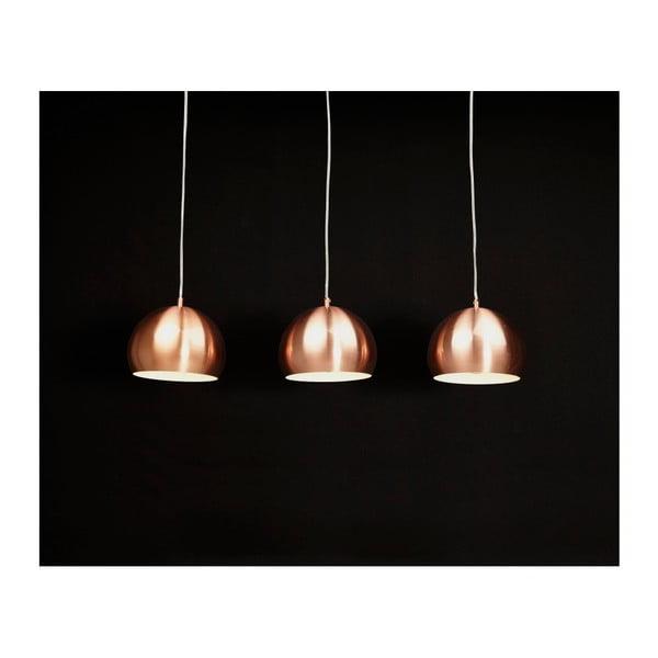 Trojité závěsné svítidlo v měděné barvě Kokoon Trika