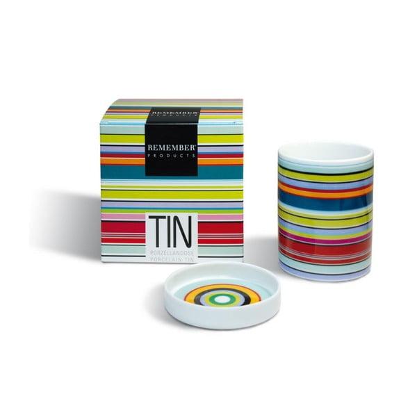 Porcelánová dóza Colour Stripes