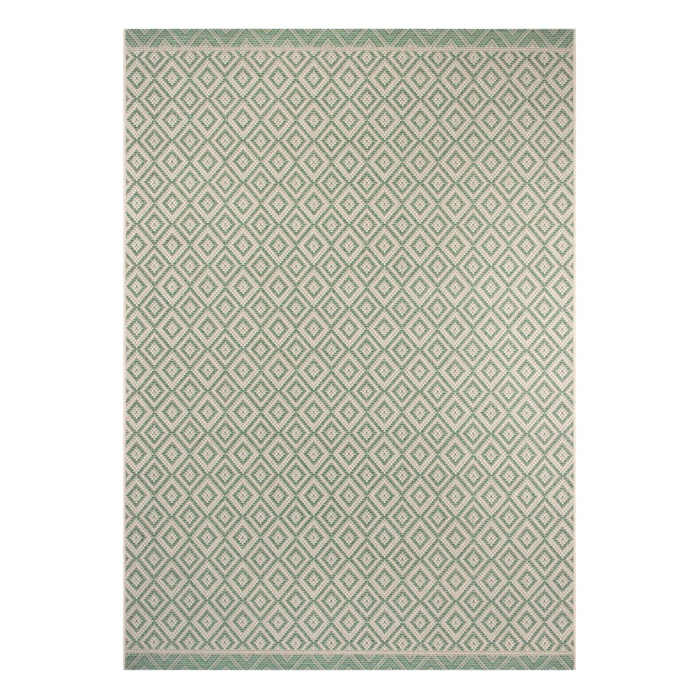 Zeleno-béžový venkovní koberec Ragami Porto, 140 x 200 cm