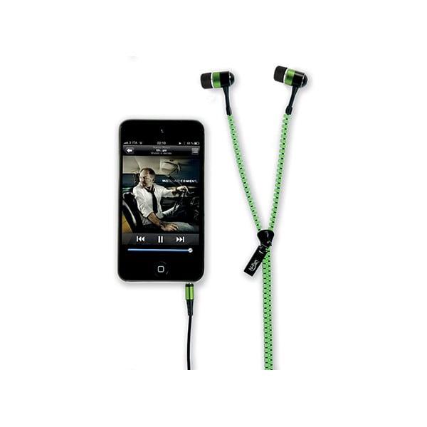 Sluchátka hi-Zip, zelená