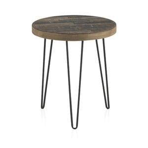 Odkládací stolek s deskou z jilmového dřeva Geese Cala, ⌀46cm
