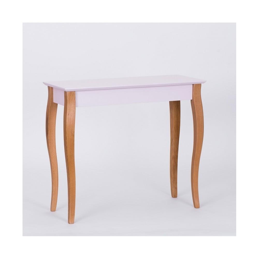 Růžový odkládací stolek Ragaba Console, délka 85 cm