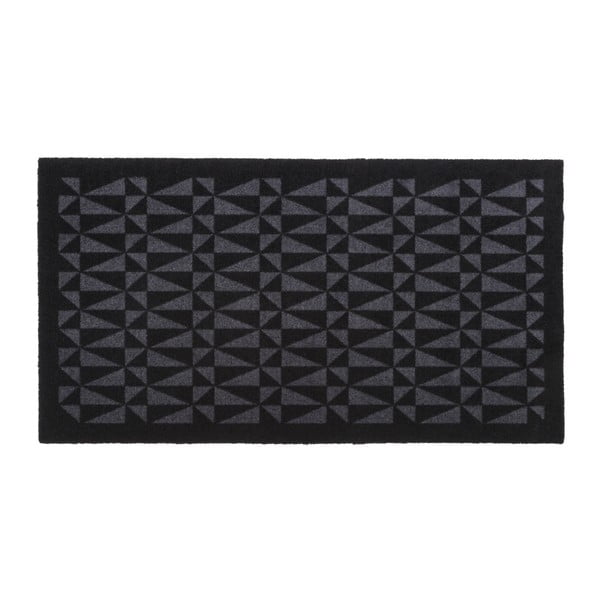 Czarno-szara wycieraczka Tica Copenhagen Graphic, 67x120cm