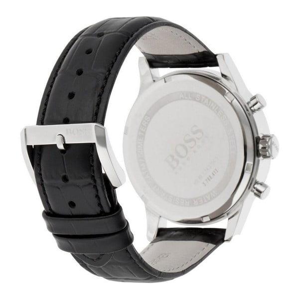 Pánské hodinky s koženým řemínkem Hugo Boss Aaron