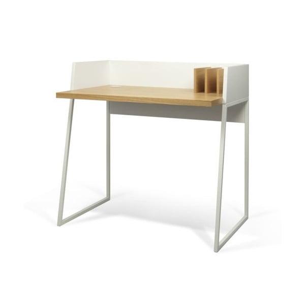 Pracovní stůl Volga White/Oak, 90x60x88 cm