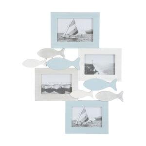 Fotorámeček na 4 fotografie Fish Blue, 40x49 cm