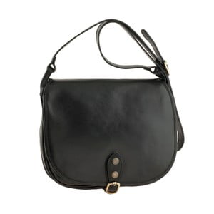 Černá kožená kabelka Tina Panicucci Cole