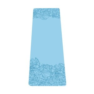 Tyrkysově modrá podložka na jógu Yoga Design Lab Aadrika Aqua, 5 mm