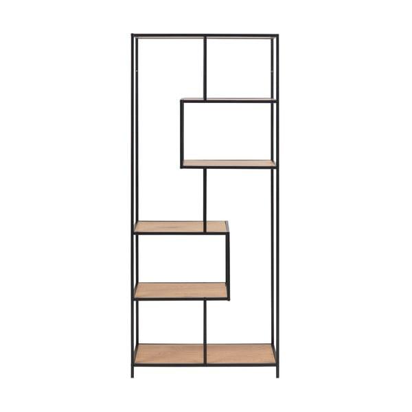 Bibliotecă Actona Seaford, înălțime 185 cm, maro - negru