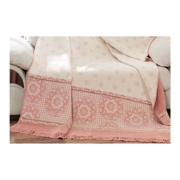 Pătură din bumbac Aksu Sweety, 220x180cm