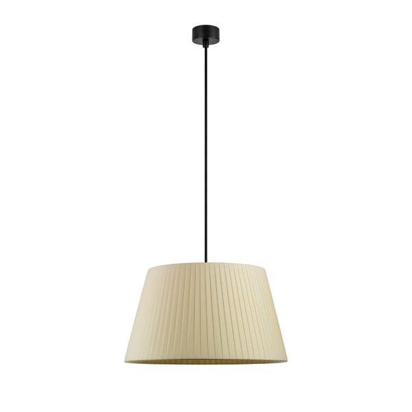 Krémové závěsné svítidlo s černým kabelem Sotto Luce Kami, ⌀36cm