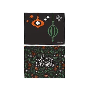 Set 2 șervețele din bumbac cu motive de Crăciun Butter Kings Very Merry Christmas, 45 x 35 cm imagine