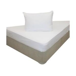 Elastické prostěradlo se dvěma povlaky na polštář White, 160x200 cm