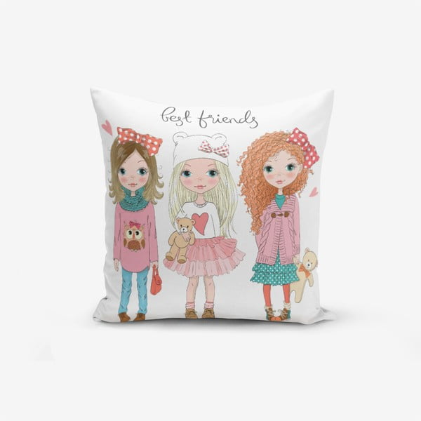 Față de pernă cu amestec din bumbac Minimalist Cushion Covers Best Friends, 45 x 45 cm
