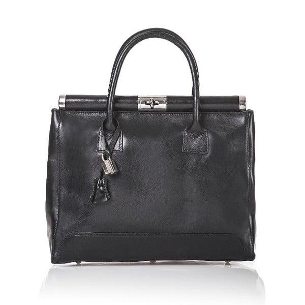 Kožená kabelka Gelso, černá