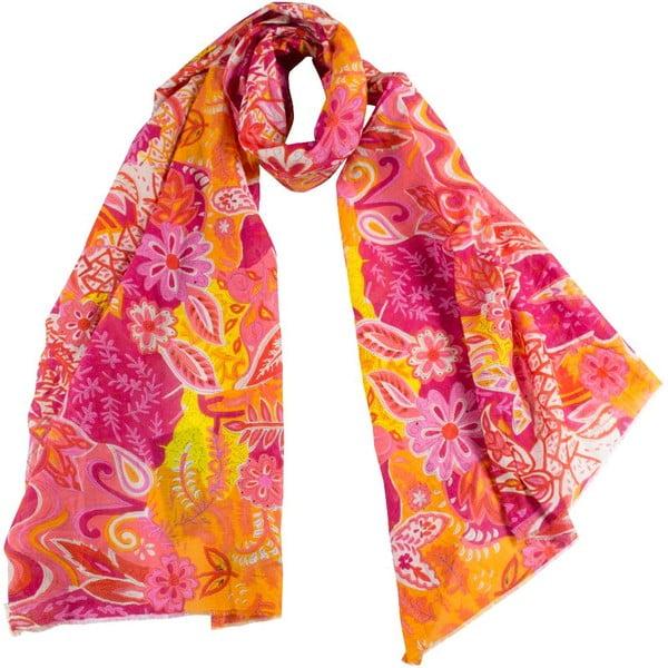 Šátek s příměsí hedvábí Shirin Sehan Marceline Sweet