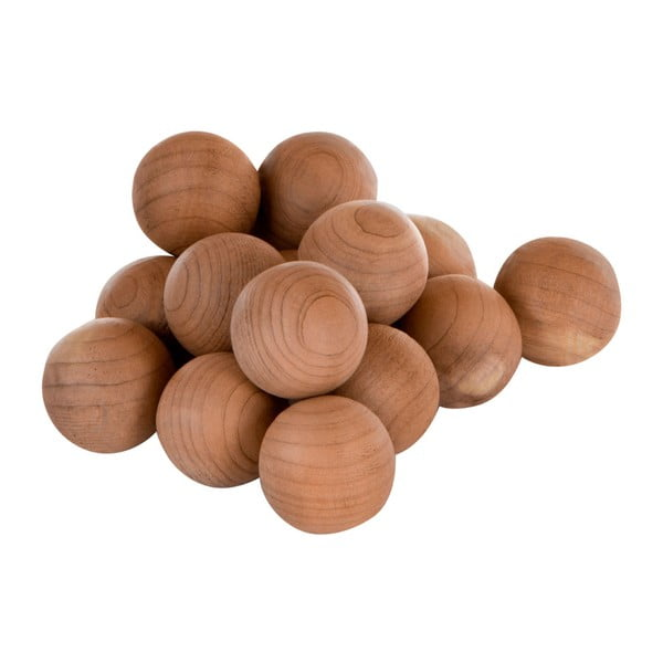 Set 15 bile din lemn de cedru Premier Housewares Cedar Balls