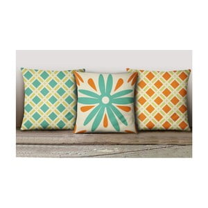 Sada 3 povlaků na polštáře Decorative Cushion Set Hurda