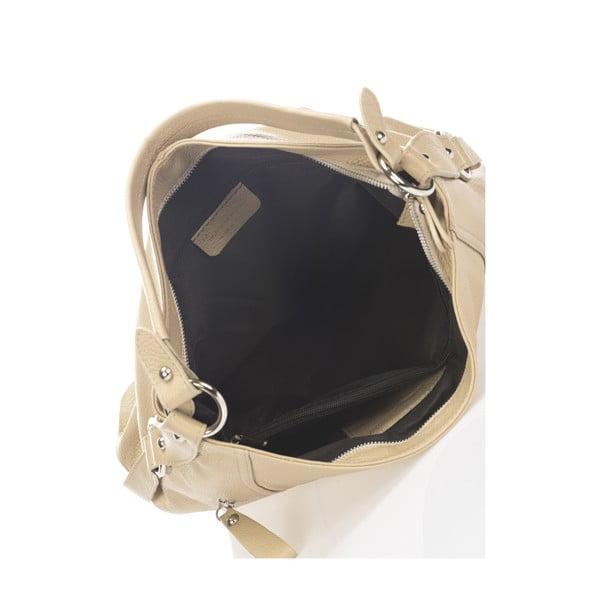 Šedobéžová kožená kabelka Giorgio Costa Teris