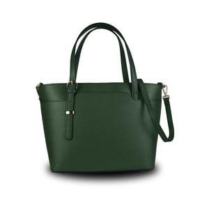 Zelená kabelka z pravé kůže JOHN FISH Simple