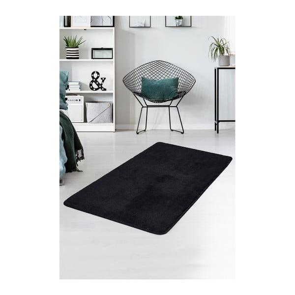 Czarny dywan Milano, 140x80 cm