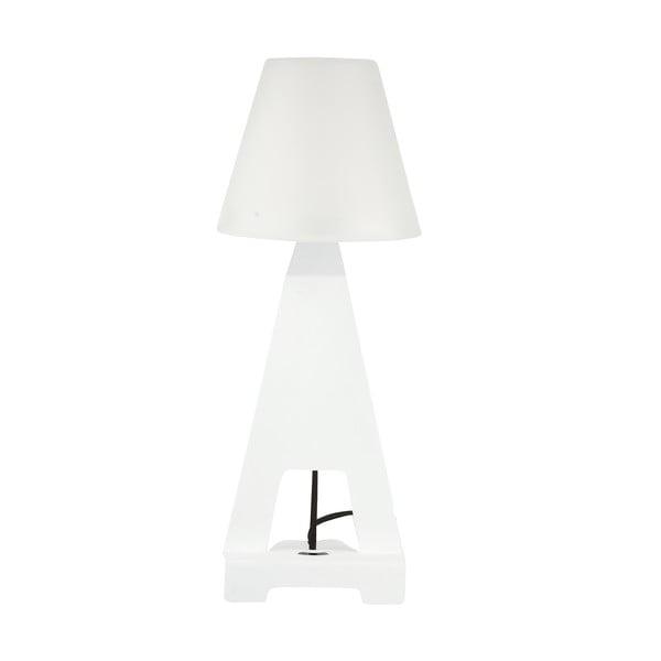 Stolní lampa se stojanem na tablet, bílá