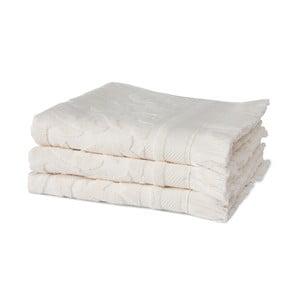 Sada 3 krémových ručníků z organické bavlny Seahorse,60x110cm