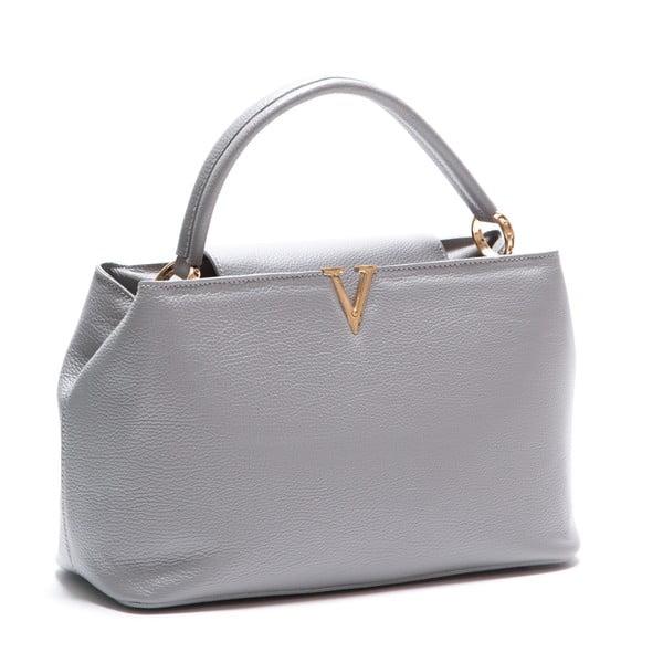 Kožená kabelka Luisa Vanini 1132, šedá