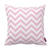 Růžovobílý polštář Zig Zag Pink, 43x43cm