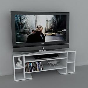 Stolek na televizi Romio White, 29,5x120x45,6 cm