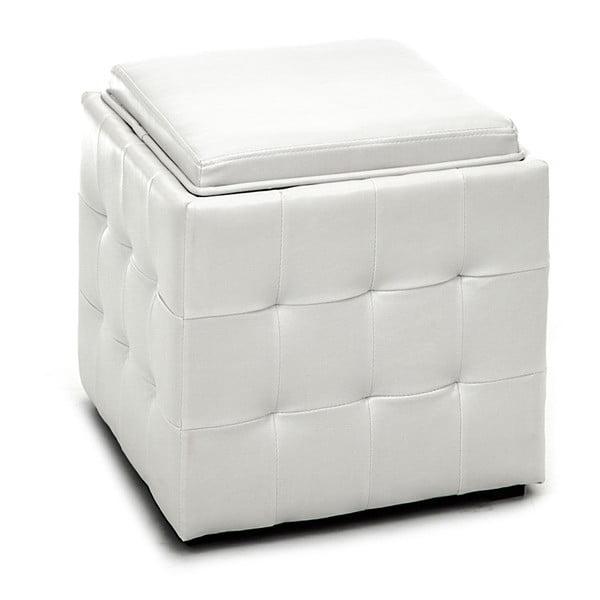 Puf cu spațiu de depozitare Tomasucci Case, alb